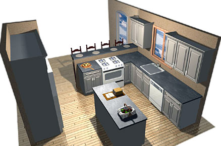The basic layout of a kitchen city renovations Different types of kitchen designs
