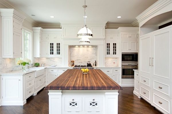 First Steps Traditional Kitchen Remodel In White
