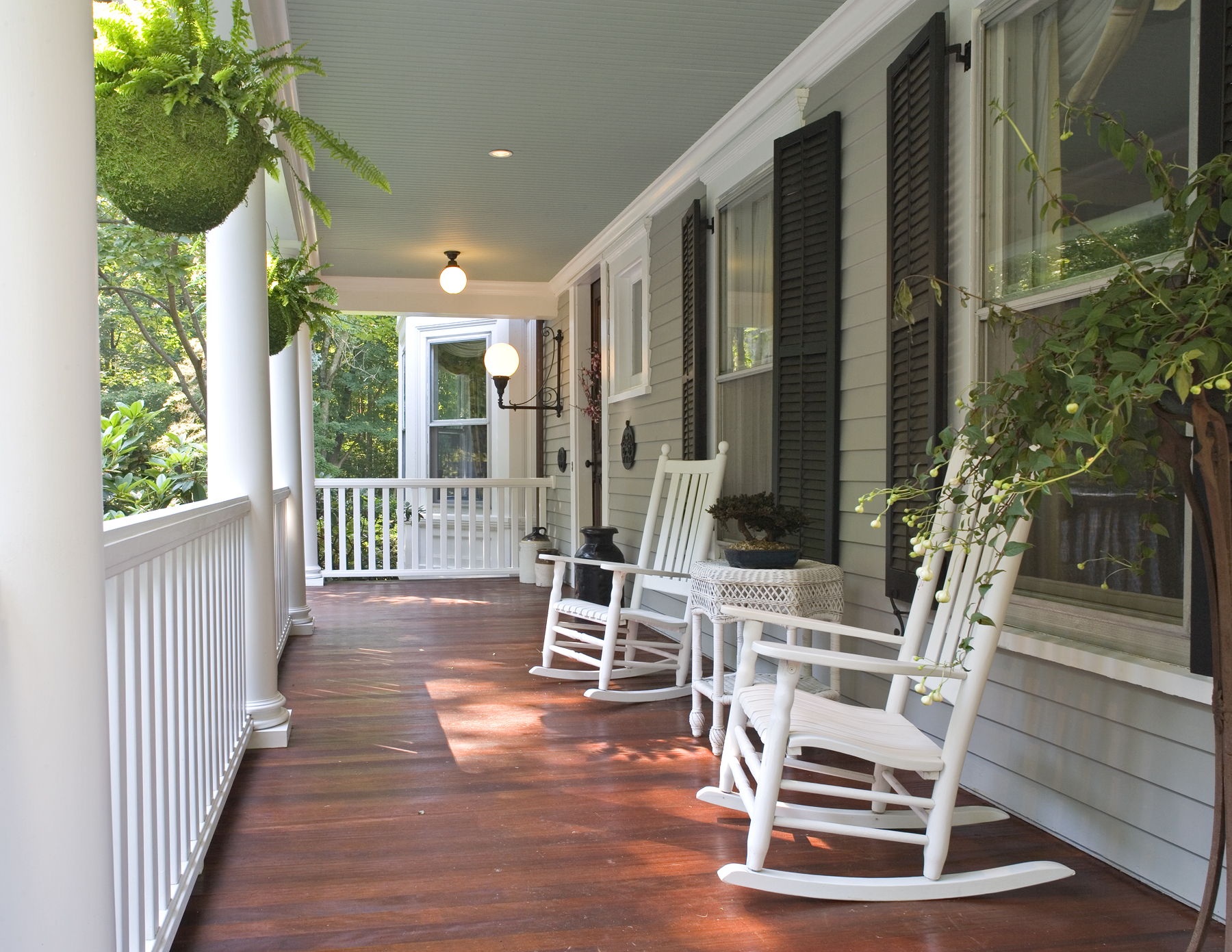 All you need to know about building a front porch to cut a for Patio decorating photos